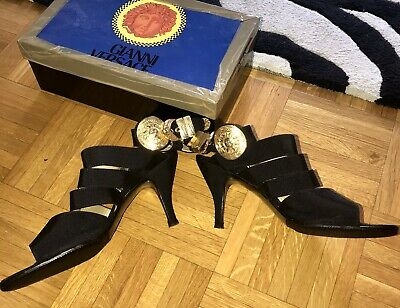AUTHENTIC GIANNI VERSACE WOMEN SANDALS 10
