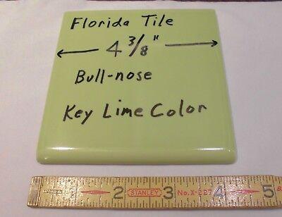 "36 pcs. Bullnose Ceramic Tiles *Key Lime Green* 4-3/8""  Florida Tile Co. Glossy"