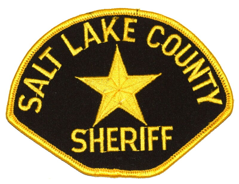 SALT LAKE COUNTY UTAH UT Sheriff Police Patch GOLD STAR OLD ~