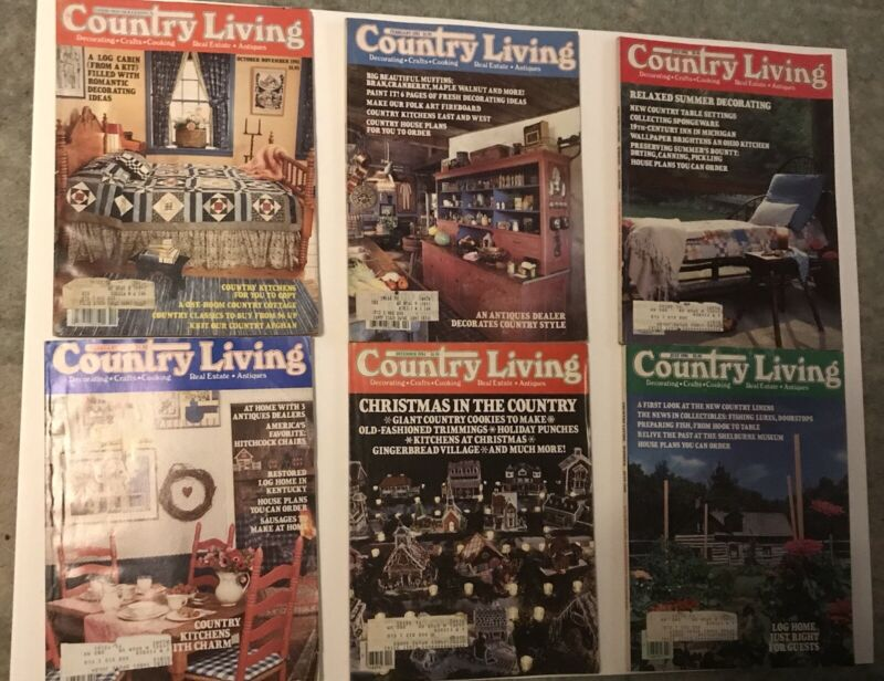 Country Living Vintage Magazine Lot 6 Issues 1981-1985 Decorating Craft Cooking