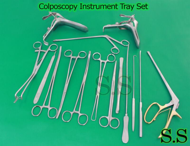 Colposcopy Instrument Tray Set - 20 pieces DS-1004