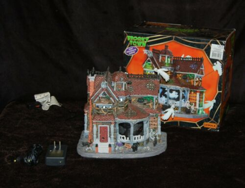 LEMAX Spooky Town Last House on the Left WORKS RARE Animated Lights Sounds