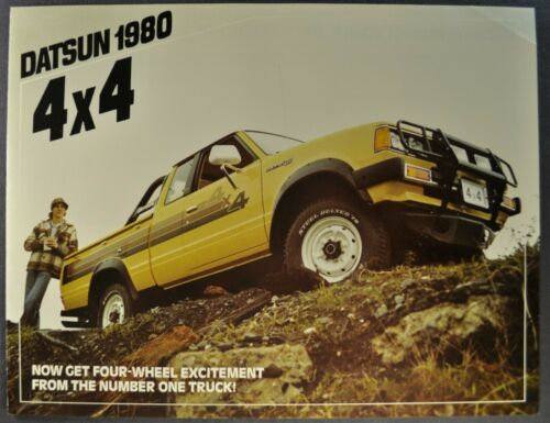 1980 Datsun 4x4 Pickup Truck Brochure King Cab Nice Original 80 Canadian