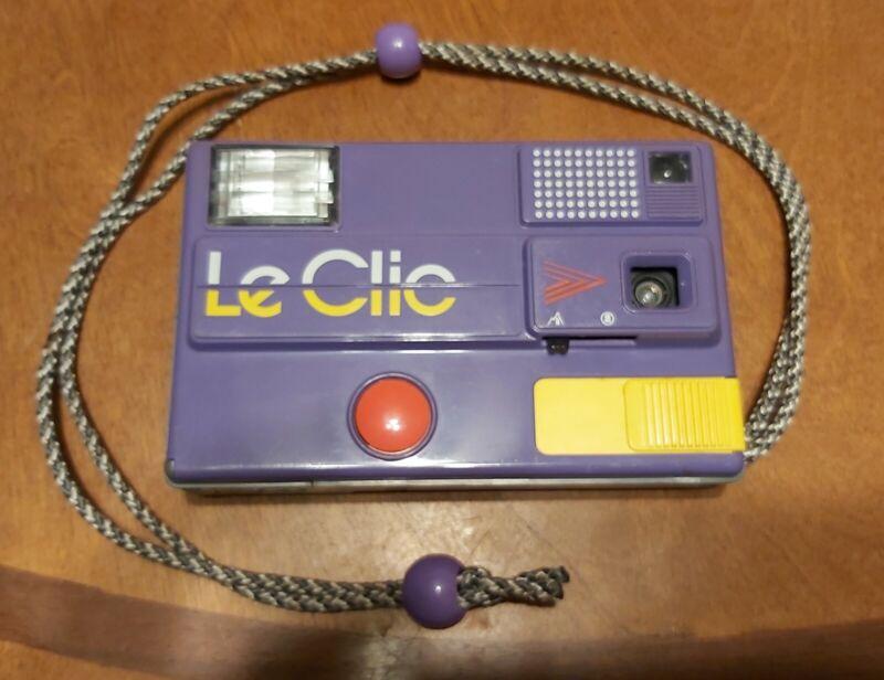 VINTAGE ( LE CLIC ) Purple + Yellow  Camera Excellent! 80