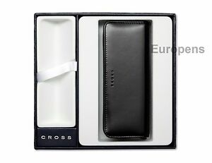 Cross Triple Pen Case Black Zipped - Supplied in Gift Box - Empty space for pen*