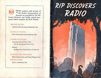 Rca Advances In Radio Technology Radio Corp Of America Nbc Vintage 1939 Booklet