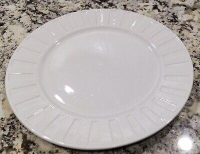 """Oneida Symphony 12"""" White Serving Platter"""