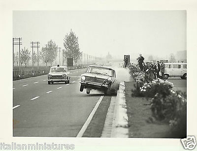 Fiat 124 Berlina Controlled Autostrada Crash Test Original Photograph 126263