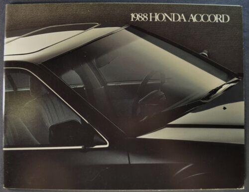 1988 Honda Accord Catalog Brochure DX Sedan Hatchback LXi Excellent Original 88