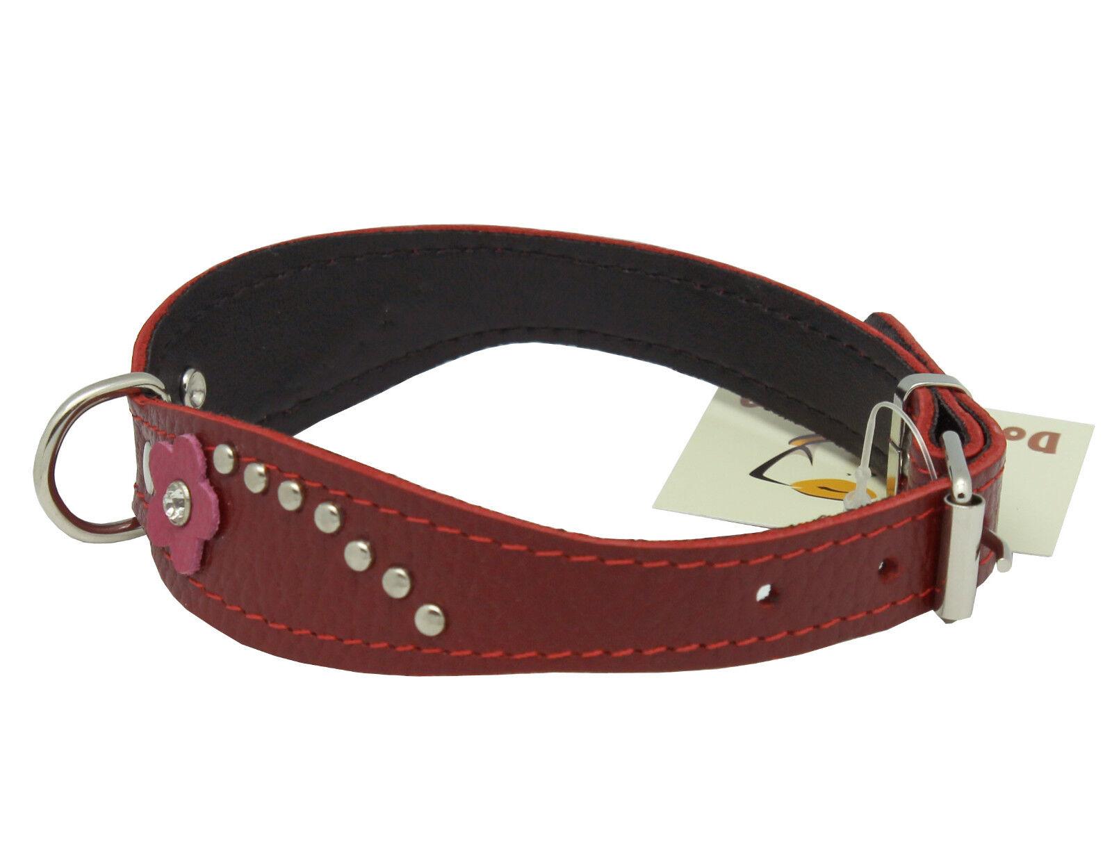 Red Leather Dog Collar Australia