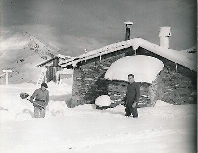 Chasseurs Alpins c. 1935 - Déneigement Poste du Fréjus - NV 55