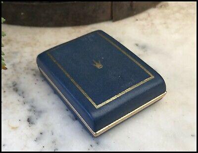 Vintage Art Deco Navy Leatherette Regal Cultured Pearl Brooch Presentation Box