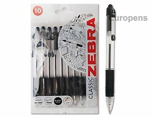 Zebra Z-Grip Retractable Disposable Ballpoint Pen Black 1.0mm (PACK OF 10) 01951