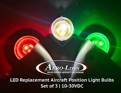 Aircraft Nav Light  LED Replacement Bulb SET 10-30VDC - CREE XP-E