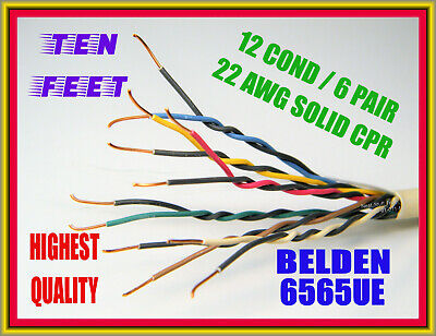 Belden 6565ue Wire 12-cond 6 Pair 22 Awgmulti-conductor Plenum 10-feet