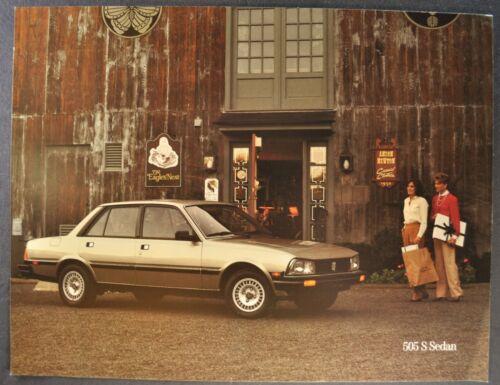 1985-1986 Peugeot 505S Sedan Sales Brochure Sheet Excellent Original