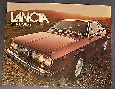 1977-1978 Lancia Beta Coupe Sales Brochure Sheet Excellent Original