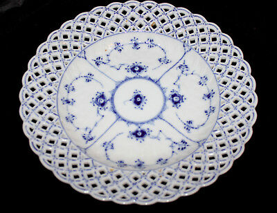 "Royal Copenhagen 10"" Blue Onion Plate Reticulated Weave Edge Exc. Cond."