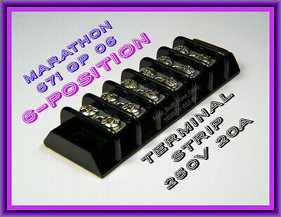 Marathon 6-position Terminal Strip Cat No. 206 Item No. 671gp06  Great Price