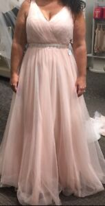 Soft Pink wedding or bridesmaid dress