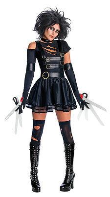 Womens Edward Scissorhands Costume Sexy Scissor Hands Fancy Dress Scissors Claws