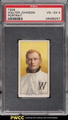 1909-11 T206 Walter Johnson PORTRAIT PSA 4 VGEX