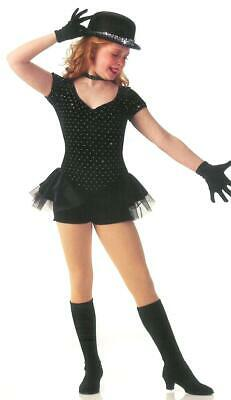 Child Small `All That Jazz` Tap Dance Costume Biketard Boy Short attached Skirt - All That Jazz Costumes