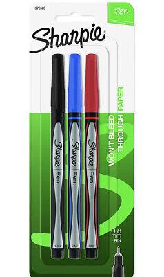Sharpie Pens Fine Point 0.8mm Assorted Colors 3 Count