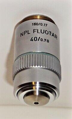 Leitz 40x Npl Fluotar Microscope Objective