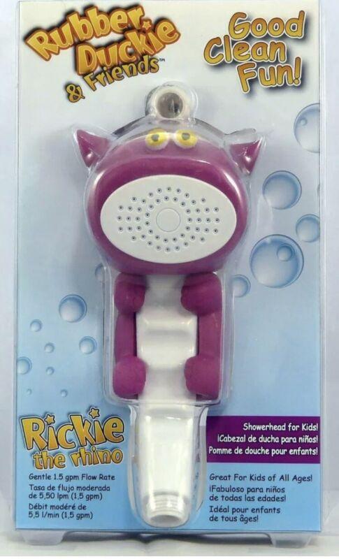 Shower Wand Bath Sprayer Rubber Duckie & Friends Rickie the Rhino Kids