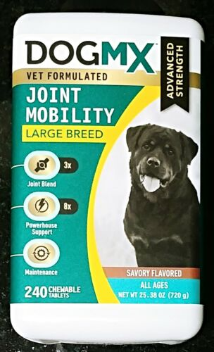 DOGMX ADVANCED STRENGTH JOINT MOBILITY LARGE CHEWABLE TABS SAVORY 240 COUNT $100