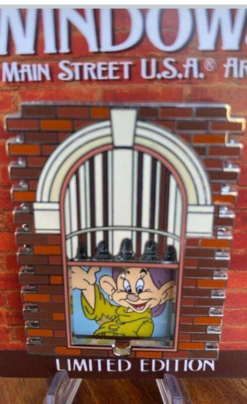 2021 Disney Parks Windows of Main Street USA Dopey Pin LE