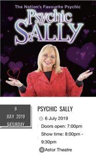 2x Psychic Sally Tickets 6th July
