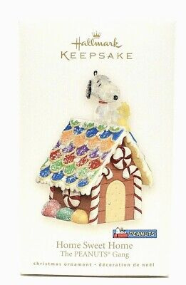 RARE NEW 2008 HALLMARK PEANUTS HOME SWEET HOME WITH SNOOPY CHRISTMAS ORNAMENT