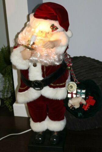 """Vintage Traditions 30"""" Deluxe Animated Santa - Musical, Candle Light & Motion"""