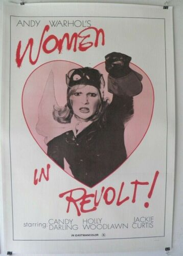 WOMEN IN REVOLT 1971 Andy Warhol Linen backed poster Candy Darling Lgbt Gay  70