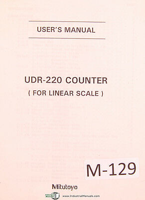 Mitutoyo Udr-220 Counter For Linear Scale W Quick Reference Chart User Manual