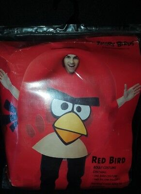 Angry Birds RED BIRD Halloween Adult Costume by Rovio Entertainment!](Angry Bird Adult Costume)