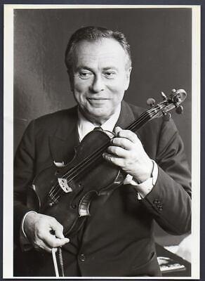 Violinist HENRYK SZERYNG Polish-Mexican Musician 1983 ORIG PRESS PHOTO 8x11 - $34.95