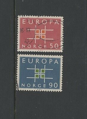 NORWAY 1963 EUROPA Set of 2 STAMPS Fine Used
