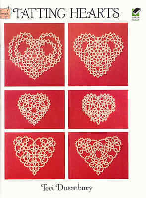 Tatting Hearts  ~  TATTING BOOK  ~ soft cover book ~ 32 pages long ~ -
