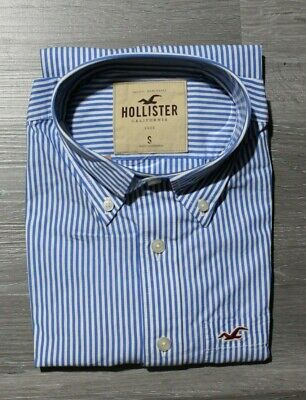 NWT Hollister Men Long sleeve Classic button down shirt by Abercrombie Size S