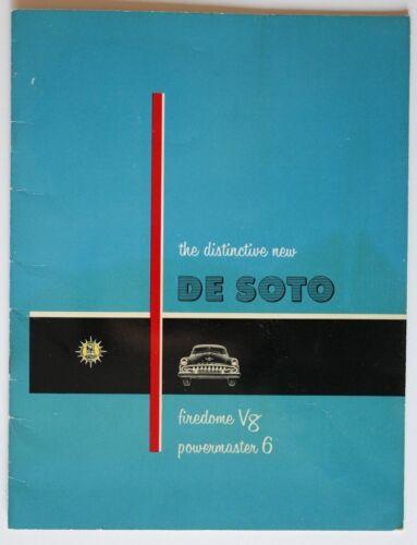 DE SOTO 1954 Firedome V8 dealer brochure - English - Canada - HS2003001018