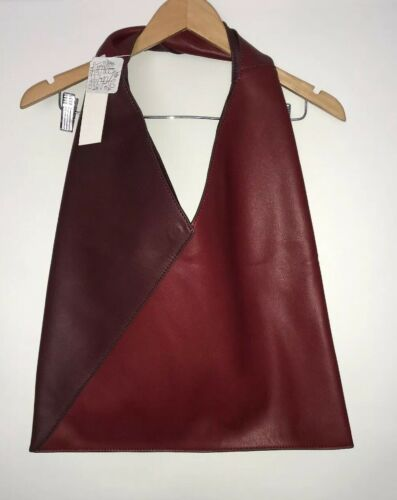 NWT Free People Reversible Vegan Leather Tote Handbag Brick