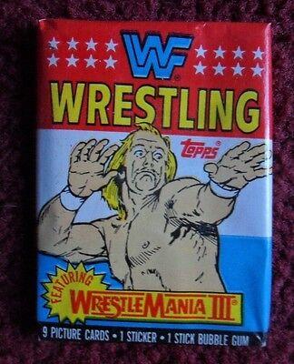 Unopened Pack 1987 Topps WWF Wrestling Cards ~ HULK HOGAN Wrestlemania III
