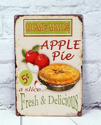 - Pie Artistic Advertising Poster Wall Plaque Plate Vintage Metal Tin Signs