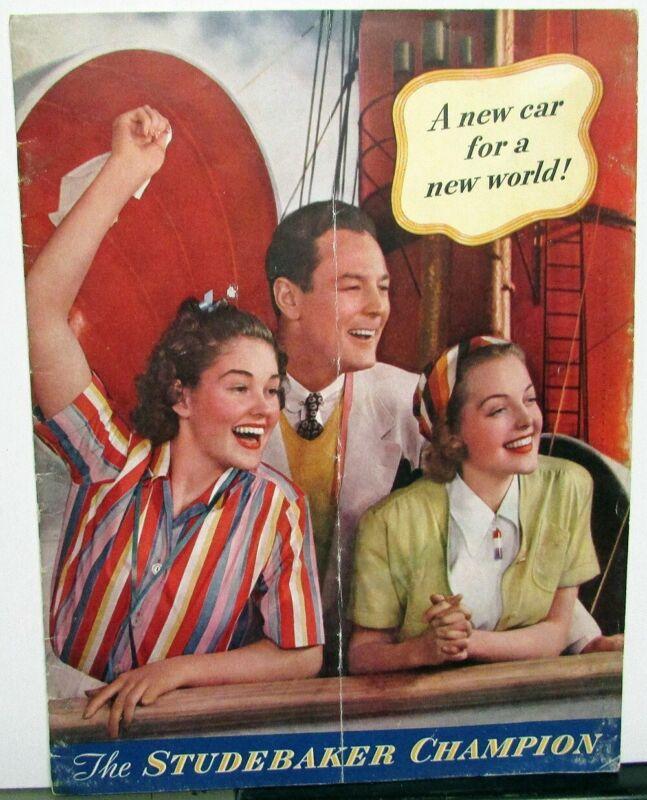1939 Studebaker Champion Color Sales Brochure Original