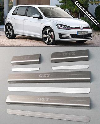 VW Golf Mk7 GTi (released approx 2013) 4 Door Sill Protectors / Kick plates
