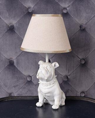 Lampara Bully lampara de mesa blanca lampara escultura de perro lampara de tela segunda mano  Embacar hacia Argentina