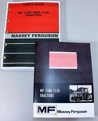 Set Massey Ferguson 1100 1130 Tractor Owners Operators Parts Manual Catalog Book